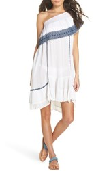 Muche Et Muchette Gavin One Shoulder Cover Up Dress White Navy