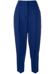 Dorothee Schumacher Cropped Tailored Trousers Blue