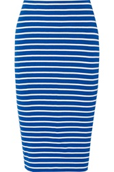Bailey 44 Singles Striped Stretch Jersey Skirt Blue