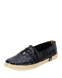 Stefano Ricci Crocodile Leather Espadrille Shoe Blue Men's