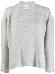 Le Kasha Moscow Boxy Fit Jumper Grey