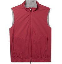 Loro Piana Reversible Storm System Shell And Super Wish Virgin Wool Gilet Red