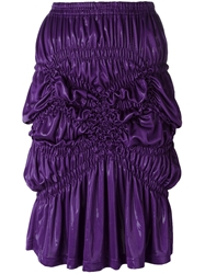 Issey Miyake Vintage Ruched Skirt Pink And Purple