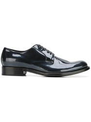 Dolce And Gabbana Patent Derby Shoes Blue