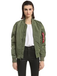 Alpha Industries Slim Fit Nylon Bomber Jacket