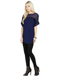 Bcbgeneration Blocked Seamed Tee Navy
