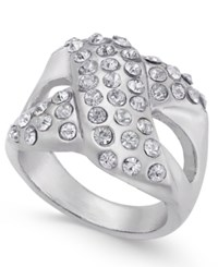 Thalia Sodi Pave X Ring Only At Macy's Silver