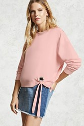 Forever 21 Contemporary O Ring Sweatshirt Light Pink