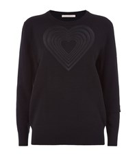 Christopher Kane Love Heart Cashmere Sweater Female Black
