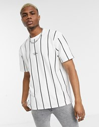Topman Signature Striped T Shirt In White