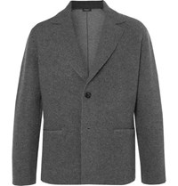 Berluti Slim Fit Charcoal Cashmere And Wool Blend Blazer