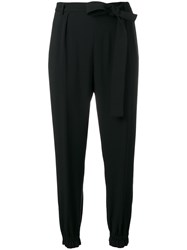 Msgm Elasticated Hem Trousers Black