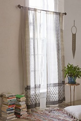 Plum And Bow Thalia Sari Window Curtain White