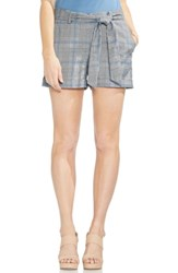 Vince Camuto Belted Plaid Shorts Rich Black