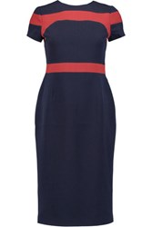 Raoul Trinity Color Block Crepe Dress Navy