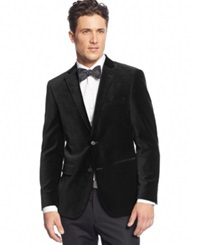 Alfani Red Velvet Slim Fit Sport Coat Black