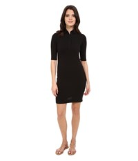Lacoste Half Sleeve Pique Polo Dress Black Women's Dress