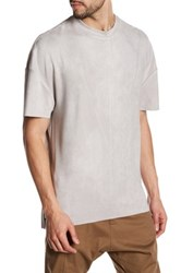 Religion Faux Suede Short Sleeve Shirt Gray