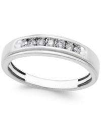 Macy's Men's Diamond Band 1 4 Ct. T.W. In 10K White Gold