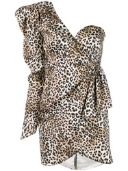 Nineminutes Leopard Print Mini Dress Neutrals