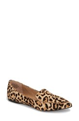 Steve Madden 'S Feather L Genuine Calf Hair Loafer Flat Leopard