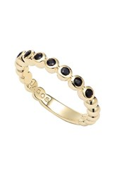 Women's Lagos 'Covet' Stone Caviar Stack Ring Gold Black Sapphire