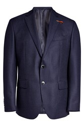 Baldessarini Textured Wool Blazer Blue
