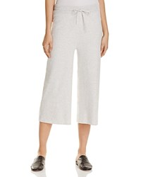 Vince Cropped Drawstring Pants Heather White