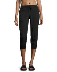 Marc New York Mesh Side Seam Cropped Pants Black