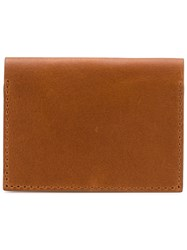 Troubadour Card Wallet Men Calf Leather One Size Brown