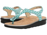 Sas Marina Chevron Turquoise Women's Shoes Blue
