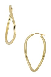 Bony Levy 14K Yellow Gold Texture Twist 40Mm Hoop Earrings