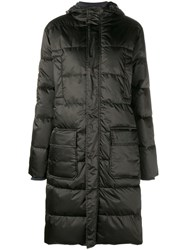 Ganni Greenwood Down Coat Black
