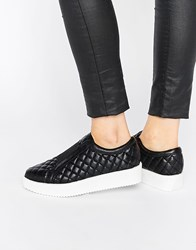 Religion Humanoid Quilted Plimsolls Black Quilted