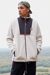 Without Walls Fleece Mock Neck Jacket Beige