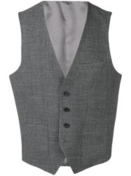 Hugo Boss Sleeveless Gilet Grey