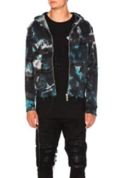 Amiri Shotgun Zip Hoodie In Blue Ombre And Tie Dye Blue Ombre And Tie Dye