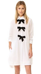 See By Chloe Three Bows Dress White