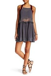 Free People Two For Tea Slip Dress Gray
