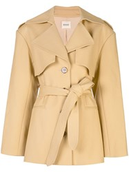 Khaite Belted Trench Coat Orange