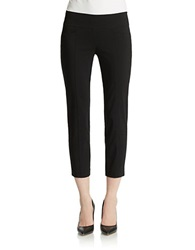 Lord And Taylor Plus Bengaline Cropped Pants Black