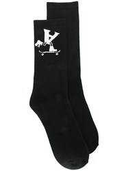 Alyx Logo Print Socks Black