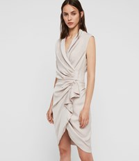 Allsaints Cancity Dress Pale Pink