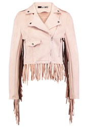 Missguided Faux Leather Jacket Pink