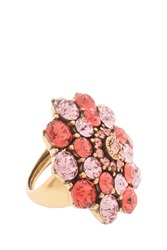 Oscar De La Renta Jeweled Floral Ring