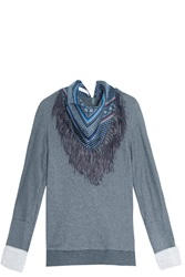 Derek Lam Scarf Sweater Grey