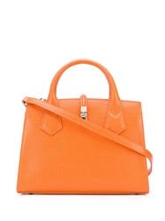 Vivienne Westwood Logo Plaque Twist Lock Tote Orange