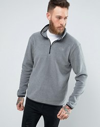 The North Face 100 Glacier Sweatshirt 1 4 Zip In Mid Gray Heather Gray
