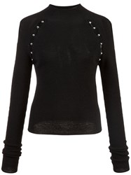 Alice Olivia Slit Detail Sweater Black