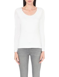 The White Company Essential Double Layer Cotton Jersey T Shirt White